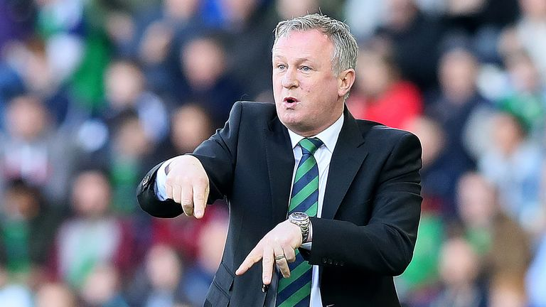 Michael O'Neill is preparing his side to play Costa Rica on Sunday