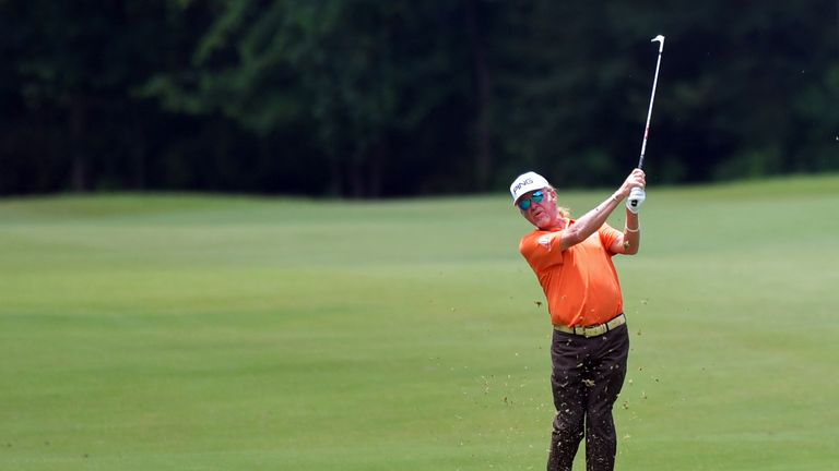 Jimenez birdied five of the last eight holes in his 67