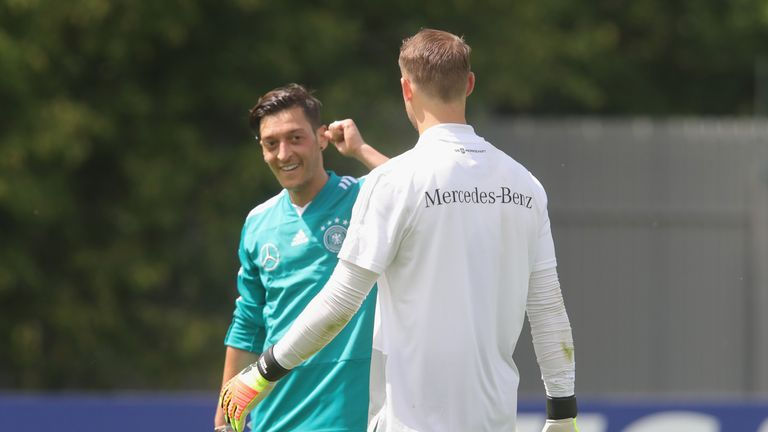 Manuel Neuer and Mesut Ozil look set to play in Germany's World Cup opener