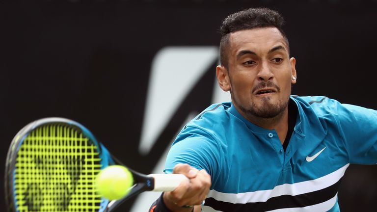 Nick Kyrgios is through in Stuttgart