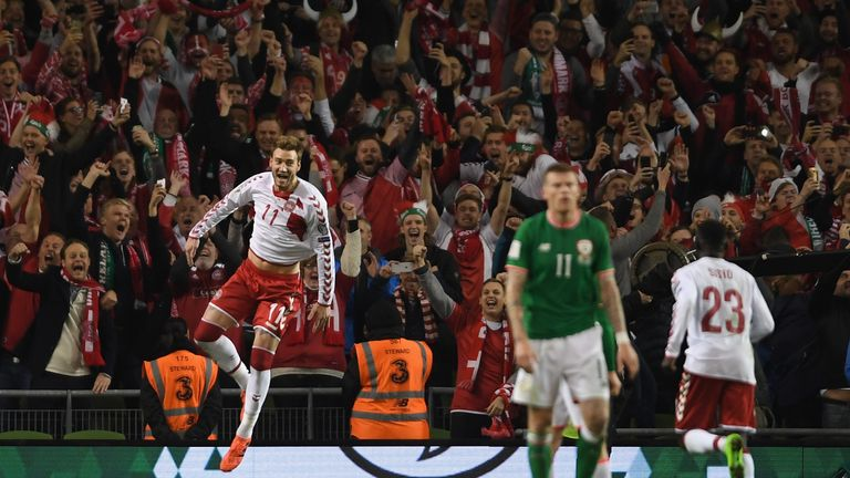 Denmark sealed their place at the 2018 World Cup thanks to a 5-1 win at the Aviva Stadium last November