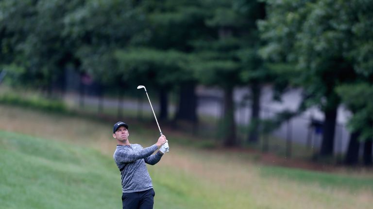 during the third round of the Travelers Championship at TPC River Highlands on June 23, 2018 in Cromwell, Connecticut.