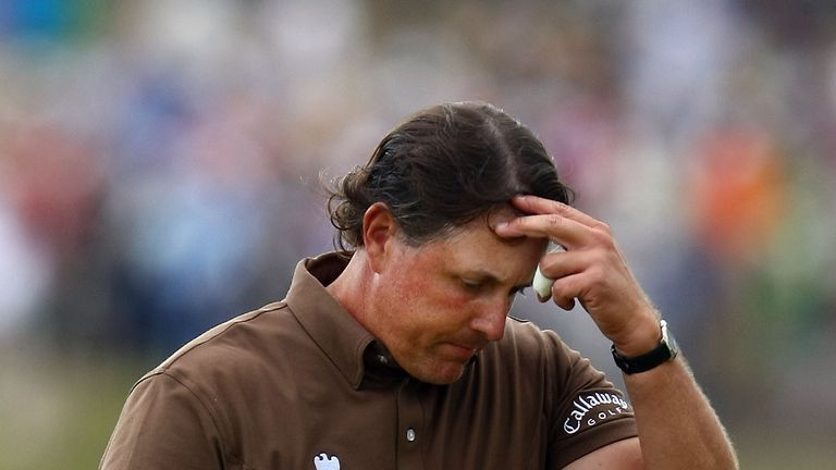 There was more Bethpage misery for Mickelson in 2009