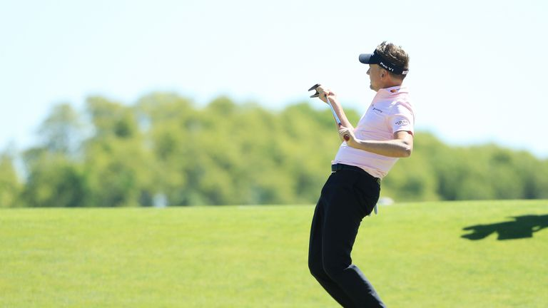 Poulter made three birdies, two of them on par-threes