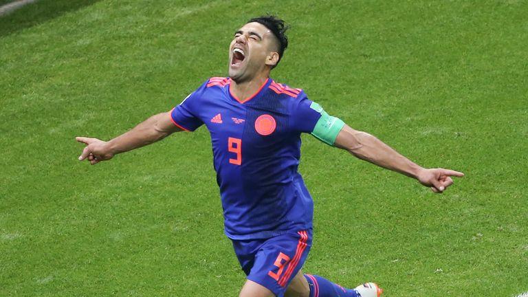 Radamel Falcao scored Colombia's second goal
