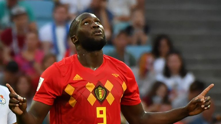 Romelu Lukaku scored twice for Belgium on Monday