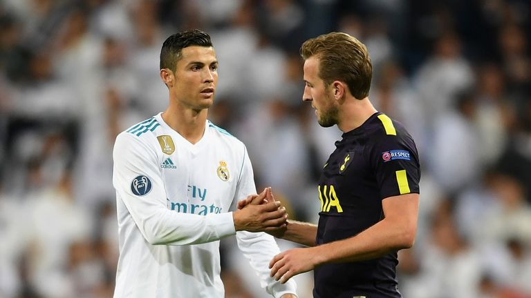 Harry Kane (right) is being talked about alongside Cristiano Ronaldo, says Mauricio Pochettino