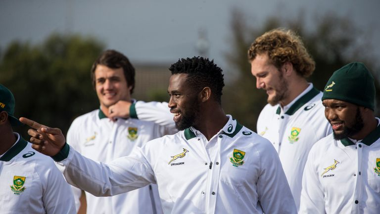 Siya Kolisi will lead the Springboks out against England