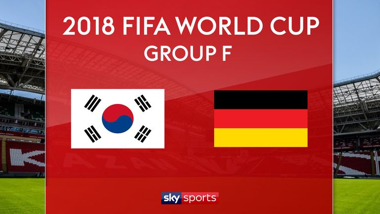 South Korea play Germany in Group F on Wednesday