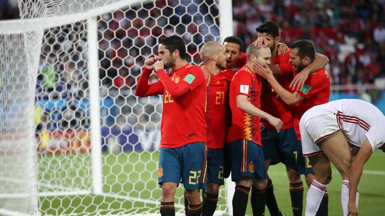 Isco put Spain back on level terms against Morocco
