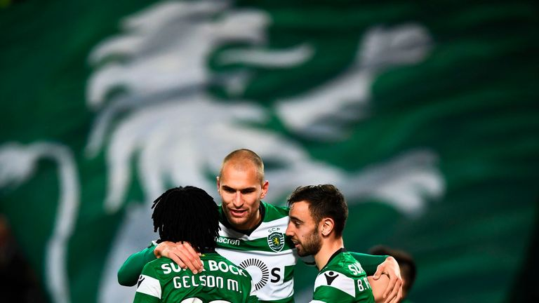 Sporting Lisbon will try to join Arsenal at the top of Europa League Group E on Thursday night
