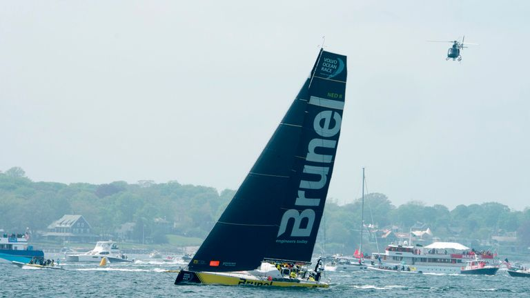 Team Brunel have won legs 9 and 10 to set up a three-way tie in the Volvo Ocean Race