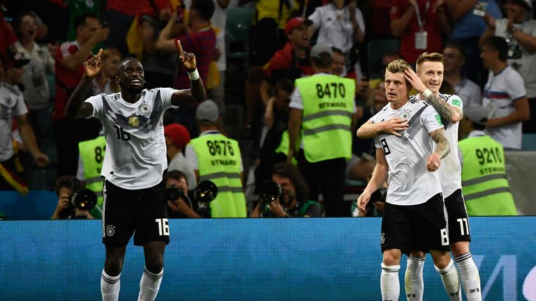 Toni Kroos And Marco Reus Spared Germanys World Cup Blushes With Goals In The Second Half