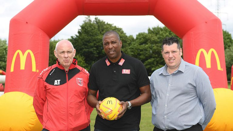 Viv Anderson is promoting the McDonald's FA Community Football Day