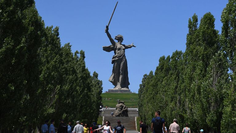The Motherland Calls statue in Volgograd