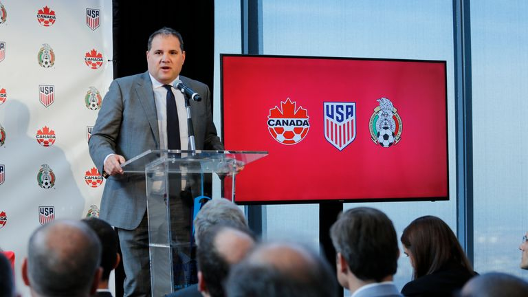 Victor Montagliani, the CONCACAF President, is helping to front the combined Canada, USA and Mexico bid
