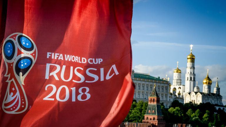 Two men have been banned from matches following offences at the World Cup