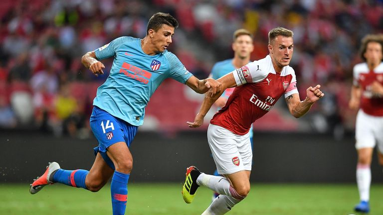 Aaron Ramsey captained Arsenal in their friendly against Atletico Madrid