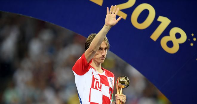 Modric won the Golden Ball at this summer's World Cup