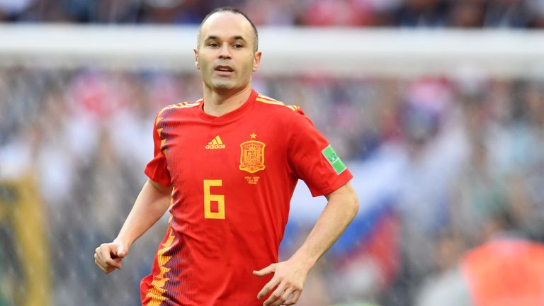Andres Iniesta scored his penalty but was on the losing side against Russia