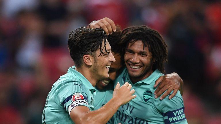 Ozil scored in Arsenal's 5-1 win over Paris Saint-Germain