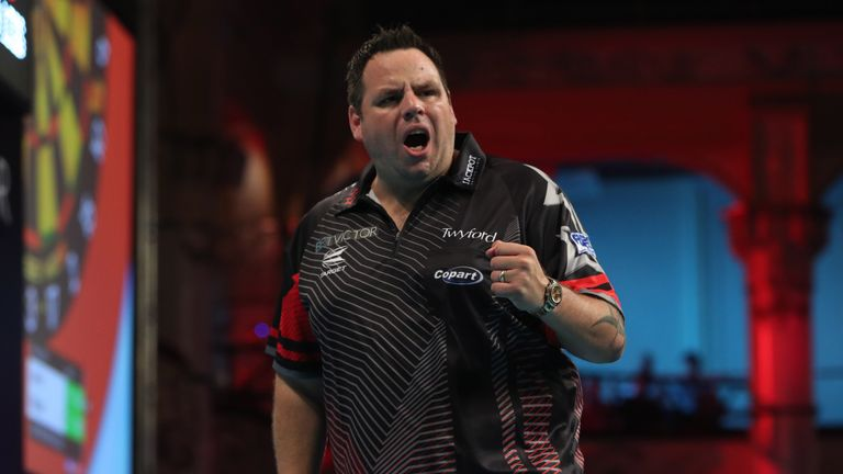 Adrian Lewis ended James Wilson's hopes in the opening round