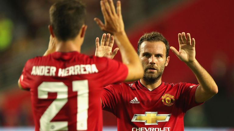 Juan Mata scored United's equaliser against Club America