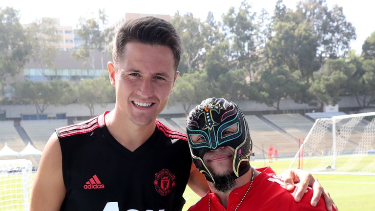 Ander Herrera was also pictured with Mysterio