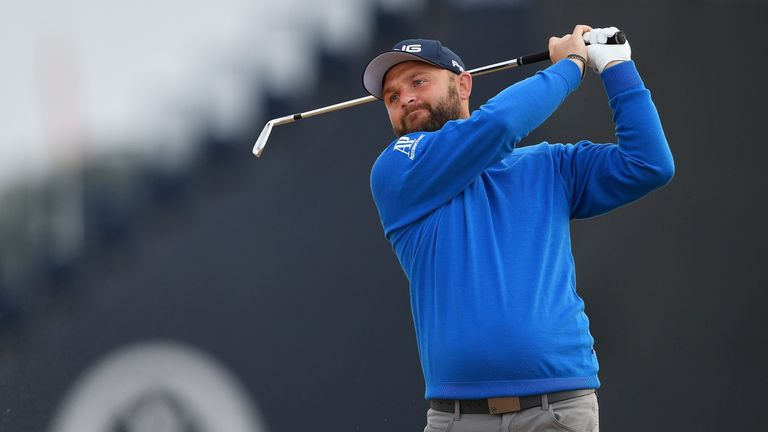 Andy Sullivan during the first round of the 147th Open Championship at Carnoustie Golf Club on July 19, 2018 in Carnoustie, Scotland