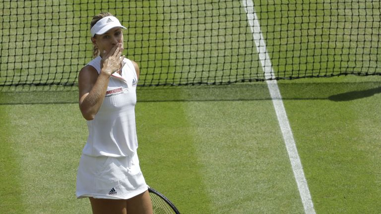 Angelique Kerber reached her second Wimbledon final in three years