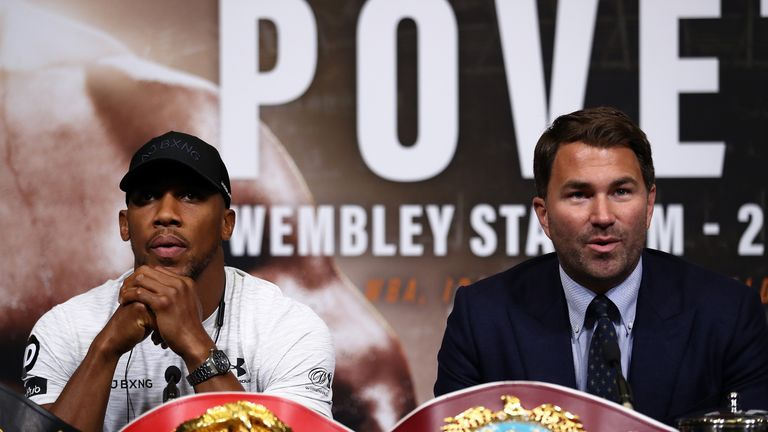Eddie Hearn is putting together his plans for Joshua next year