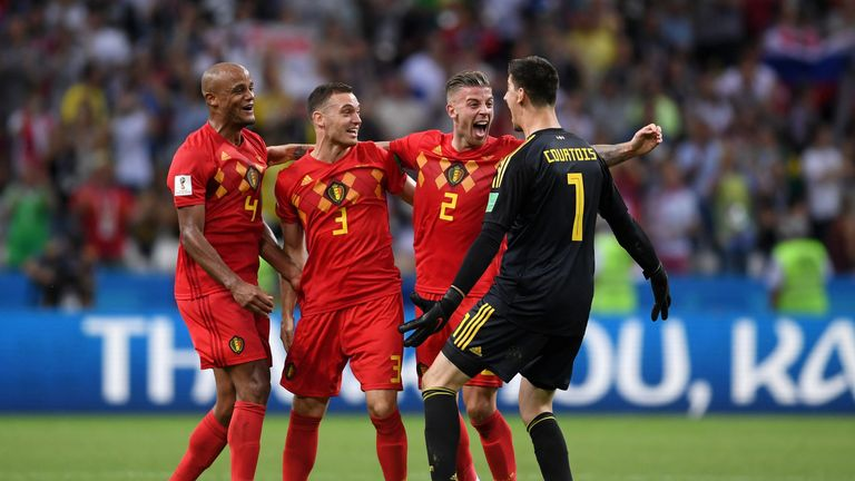 Belgium beat Brazil 2-1 in the World Cup quarter-final