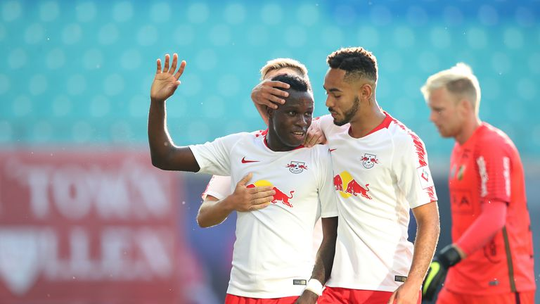 Bruma scored the opening goal for RB Leipzig