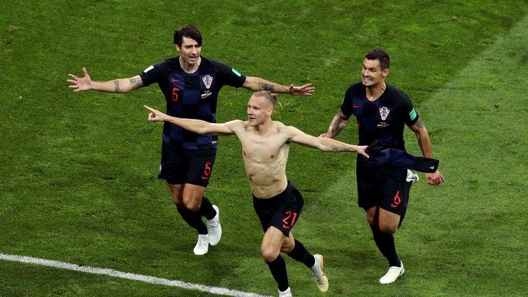 Domagoj Vida put Croatia in front in extra-time