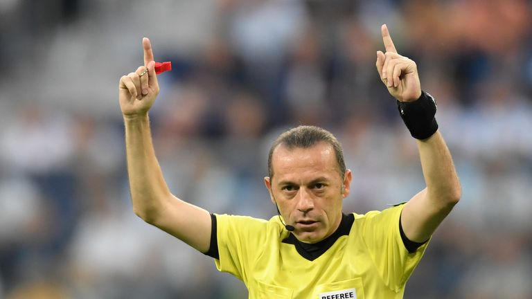 Cuneyt Cakir has taken charge of five previous England matches
