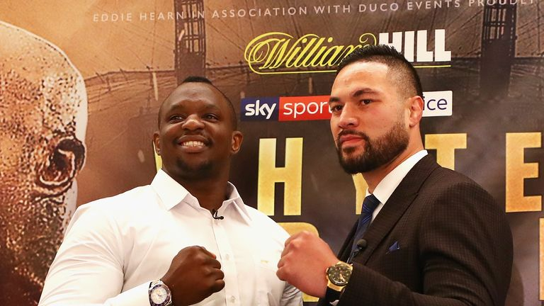 Dillian Whyte and Joseph Parker go toe to toe in London on Saturday