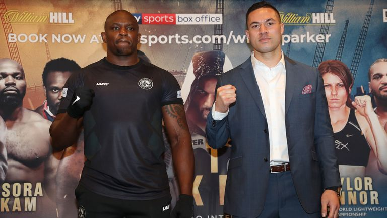 Dillian Whyte and Joseph Parker meet at The O2 on July 28