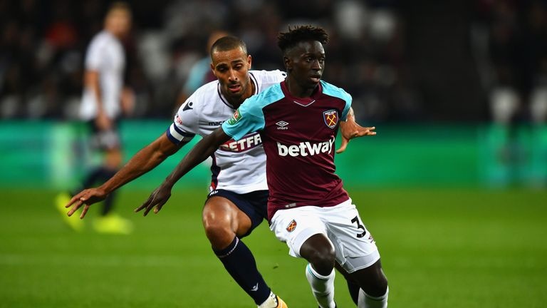 Domingos Quina has made only six senior appearances in two years for West Ham