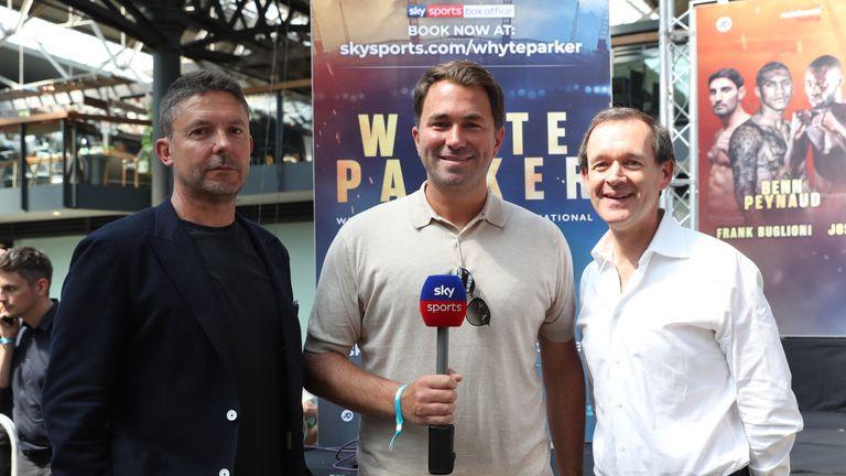 Barney Francis, Eddie Hearn and Adam Smith confirm the AJ deal