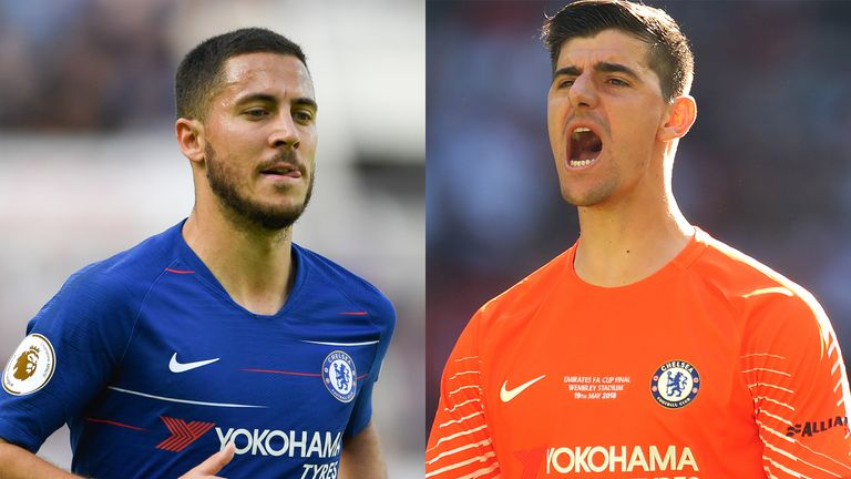 Eden Hazard and Thibaut Courtois helped Belgium to third place at the World Cup