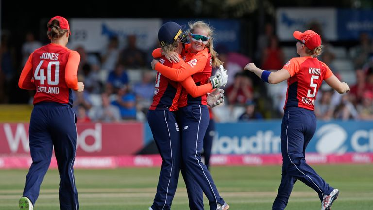 Ecclestone took five wickets in five matches during the Women's World T20 in November 2018