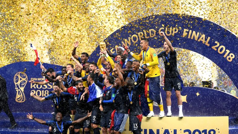 France won last year's World Cup - but will it be coming to Britain in 2030?