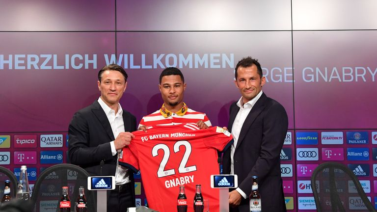 Serge Gnabry has finally been unveiled as a Bayern Munich player