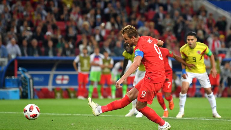 Kane made it 1-0 to England from the penalty spot during the second half