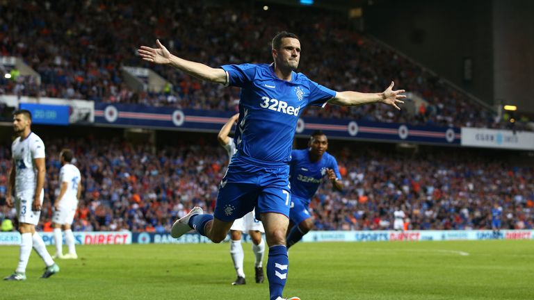 Jamie Murphy opened the scoring for Rangers in the first half