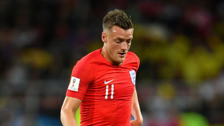 Jamie Vardy could miss England's World Cup quarter-final against Sweden