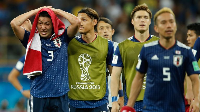 Japan were knocked out at the last-16 stage by Belgium