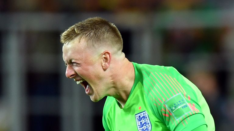 Jordan Pickford has gone from non-league football to England hero