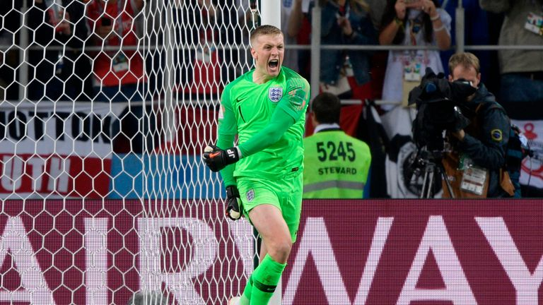 Jordan Pickford kept his cool in the penalty shootout with Colombia