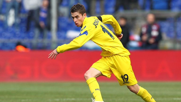 Jorginho in action for Hellas Verona in Serie B back in 2012